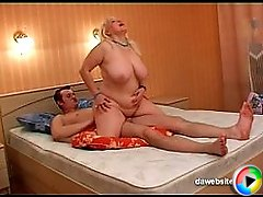 Younger guy takes a blonde MILF hooker to the hotel room